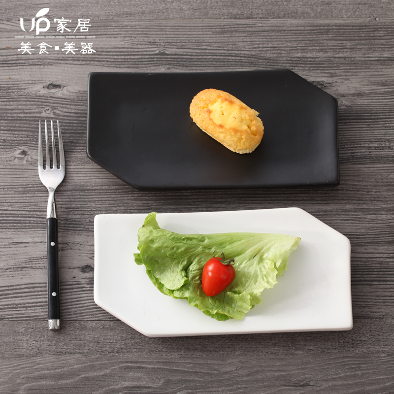 Ceramic dish Dinner plats irregular plates and dishes fruit tray snack dishes decorative plates dessert creative table Plate-in Dishes u0026 Plates from Home ... & Ceramic dish Dinner plats irregular plates and dishes fruit tray ...