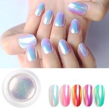 Poudre à ongles scintillante, coquille de perles, pigments chromés, vernis à faire soi même, Micro holographique et licorne, décorations pour Nail Art, manucure