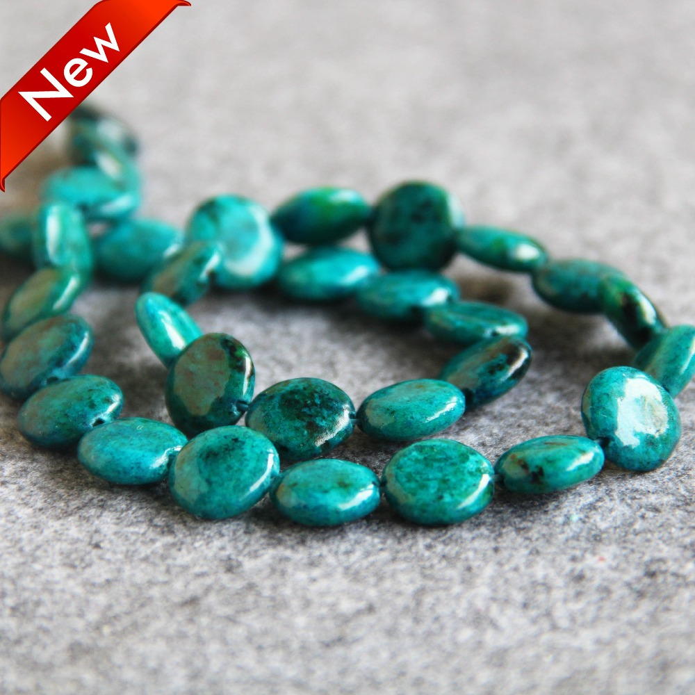 13x18mm Azurite Chrysocolla teardrop Gemstone Loose Bead 15/'/'AAA
