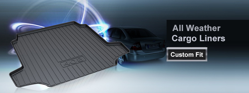 Hot Sale Quees Custom Fit Cargo Liner Boot Tray Trunk Floor Mat For
