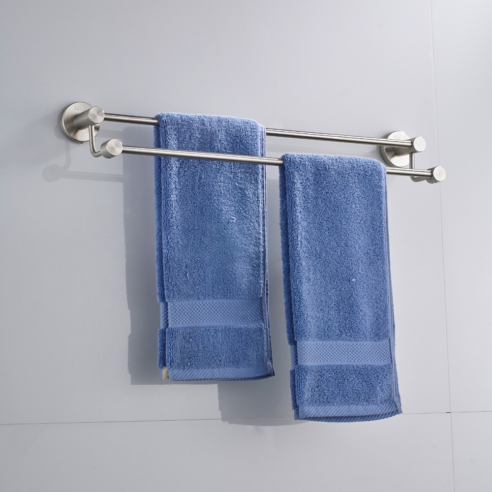 Torayvino Nickel Brushed Stainless Steel Bar Wall Mount Bathroom ...