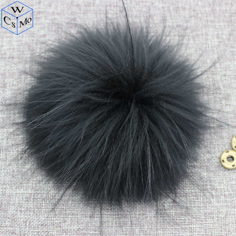 15cm Round Fluffy Real Raccoon Fur Pompoms For Handbags Keychains And Knitted Beanie Cap Hats  Genuine Fur  Ompon Pom Pom