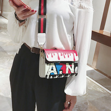 Fashion Handbags Europe The United States Wind Color Letters Ribbons Small Square Bag Casual Shoulder Diagonal Package