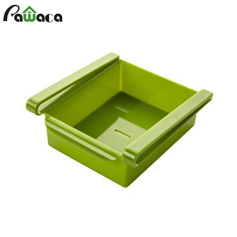 Refrigerator Storage Box Fresh Spacer Rack Fridge Storage Layer Container Basket Pull out Drawer Shelf for