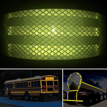 50mm X 50m  Self-Adhesive PET Reflective Sticker Warning Strip Decal corrosion resistance
