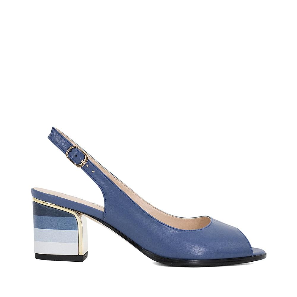SOPHITINA Sandales À La Main En Cuir Véritable 2018 Nouveau Sexy Lady Peep Toe Sandales Talon Carré Boucle Sangle Classiques Chaussures Femme S22