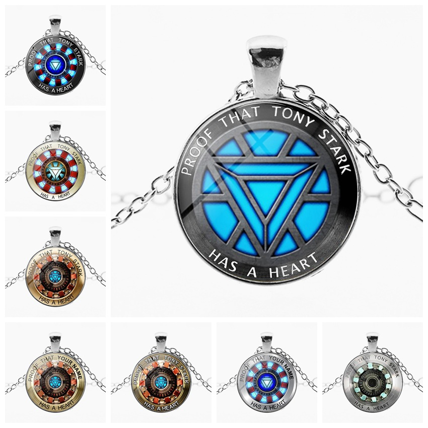 Image 2 - marvel avenger endgame Iron Man arc reactor necklace Tony Stark Necklace Quantum Realm pendant action Figure toy cosplay men kid-in Action & Toy Figures from Toys & Hobbies