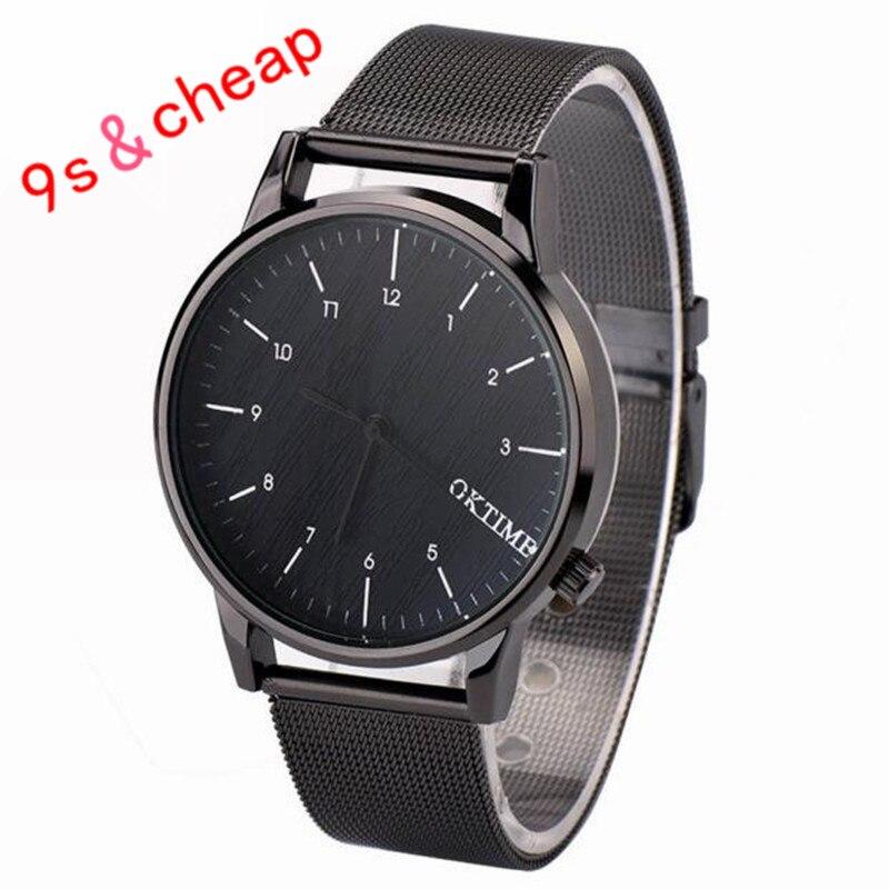 Onafhankelijk Metal Business Horloge Analoge Quartz Vogue Mode Tafel Nieuwe Hoogwaardige Luxe Gratis Verzending #100717