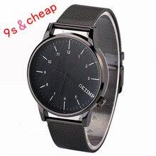 De Metal de los hombres de Negocios de Cuarzo Analógico Reloj de Moda tabla de La Manera #3456 Nuevo de Alta Calidad de Lujo Envío Gratis