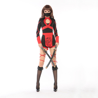 VASHEJIANG Women Ninja Costumes Classic Halloween Costumes Cosplay Ninja Costumes For Women Japanese Cartoon Fancy Dress