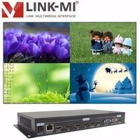 LINK-MI LM-TS71 4 in 1 aus HD Signal VGA + DP + HDMI Quad HD Video Multiviewer 4x1 HDMI Multiplexer 1080P HD Video Synthesizer