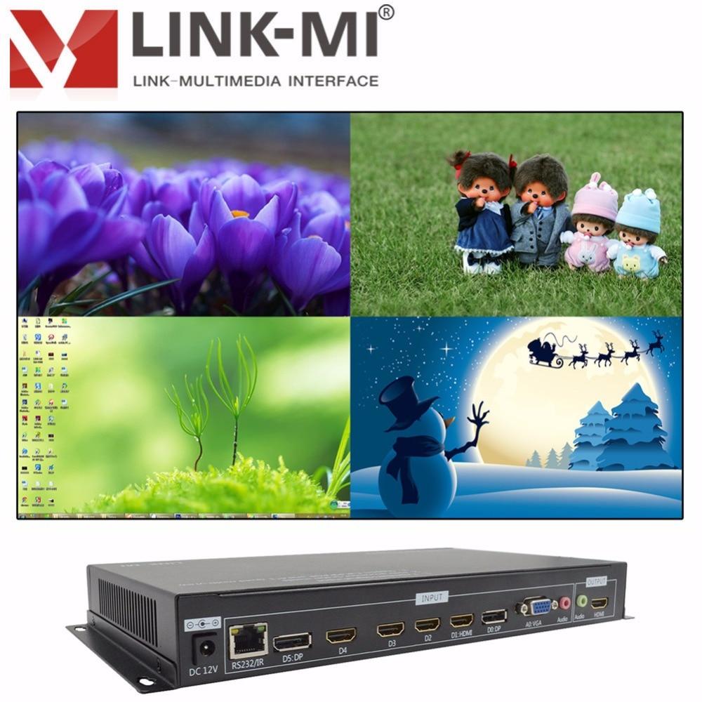LINK-MI LM-TS71 Multi-visionneuse vidéo HD quadruple 1xVGA 2xDP - Accueil audio et vidéo - Photo 2