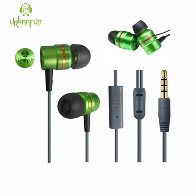 [Original]URBANFUN Beryllium Dynamic Driver HIFI Metal Earphone With Mic Noise Cancelling In Ear Earphone Monito Music Earplug original senfer dt2 ie800 dynamic with 2ba hybrid drive in ear earphone ceramic hifi earphone earbuds with mmcx interface