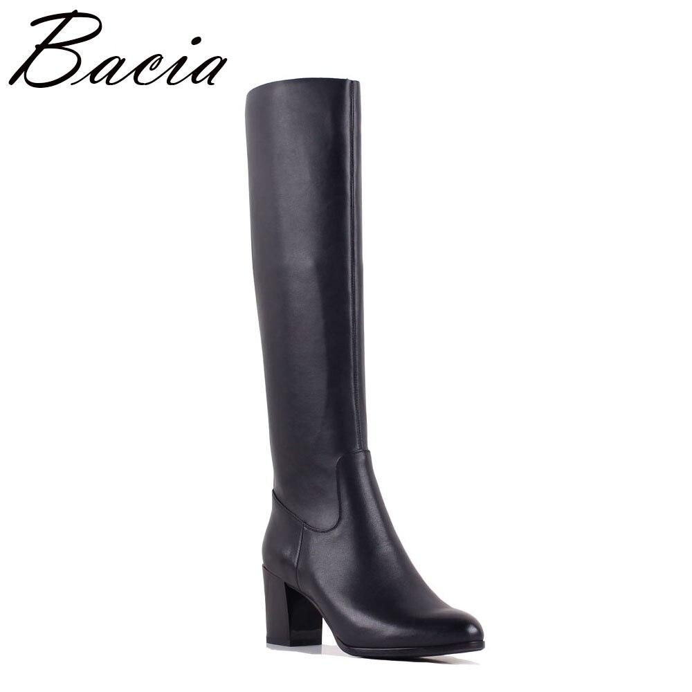 Bacia из натуральной и эластичной искусственной кожи сапоги Для женщин Мода Демисезонный мотоботы для Для женщин кожаные туфли Размер 35–40 SB060