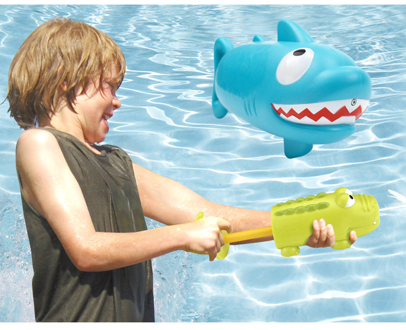 Kids Summer Outdoor Toys Crocodile Shark Water Gun Game Toy Kid Pumping Lightweight Portable Water Spray Beach Swimming Toy
