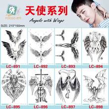 8 Different Styles Devil Hole Cool Feather Wings Tattoo Designs Temporary Tattoos Man With Demon Angels Wing Modern Body Tattoo недорого