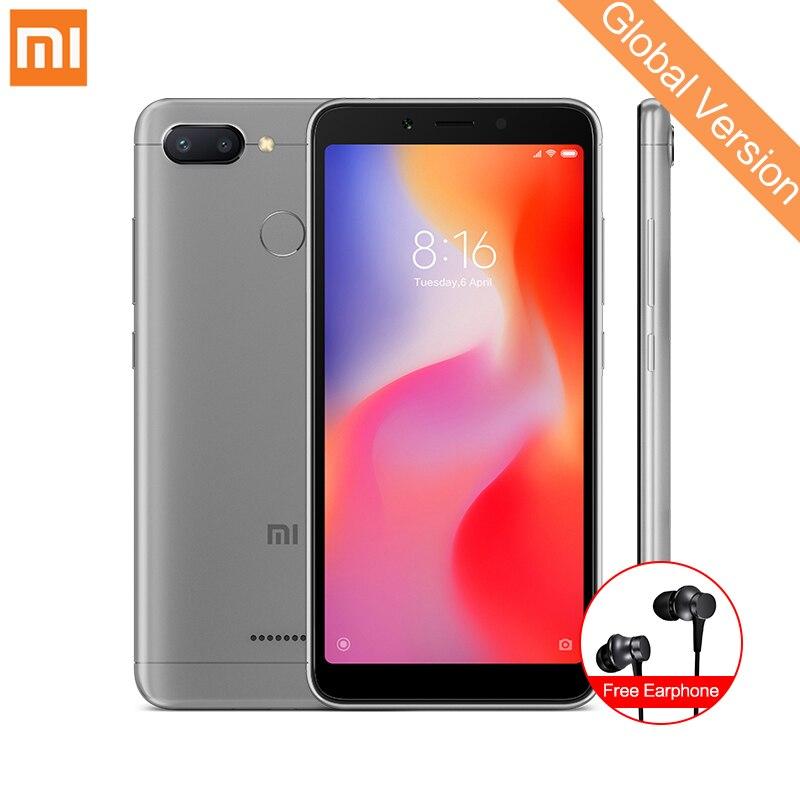 В наличии Глобальный Версия Xiaomi Redmi 6 4 ГБ 64 ГБ смартфон МТК Helio P22 Octa Core 5,45 18:9 полный Экран 12MP + 5MP двойной Камера