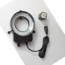 Black col 32pcs LED SMD USB Adjustable Ring Light illuminator Lamp For Industry Microscope Industrial Camera Magnifier цены