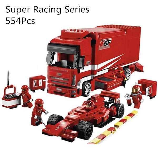 CX 21022 554Pcs Model building kits Compatible with Lego 8185 F1 Automobile Carrier 3D Bricks figure toys for children удлинитель universal у10 554 5m 554 05