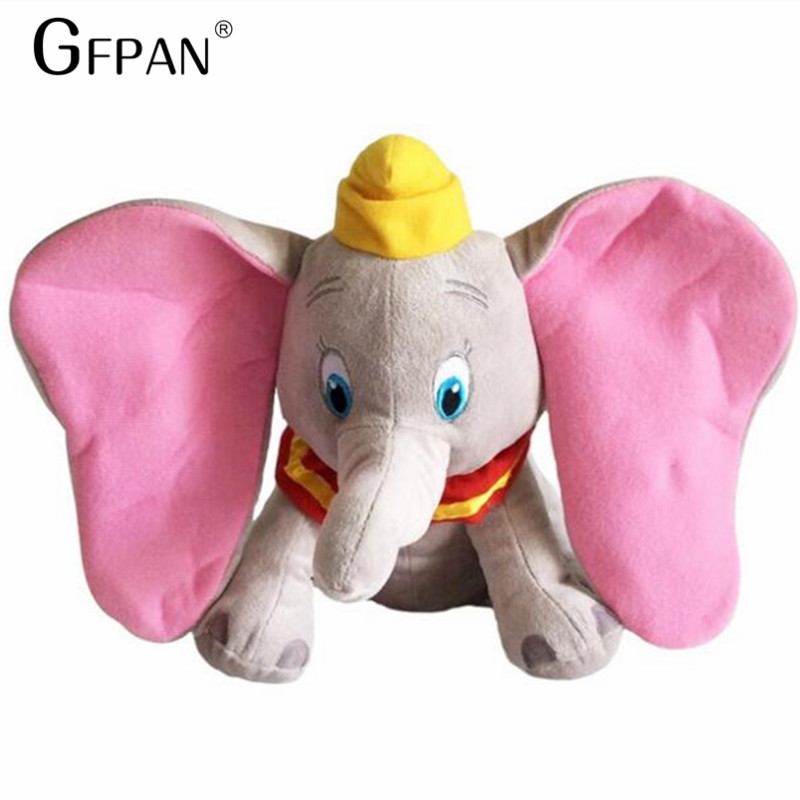 1pcs 30cm Funny Dumbo Elephant Plush Toys Stuffed Animals Super Soft Toys for baby Sleeping Gifts stuffed dolls for collection fulljion baby stuffed plush animals elephant toys for children kawaii dolls infant sleeping back cushion stuffed pillow gifts