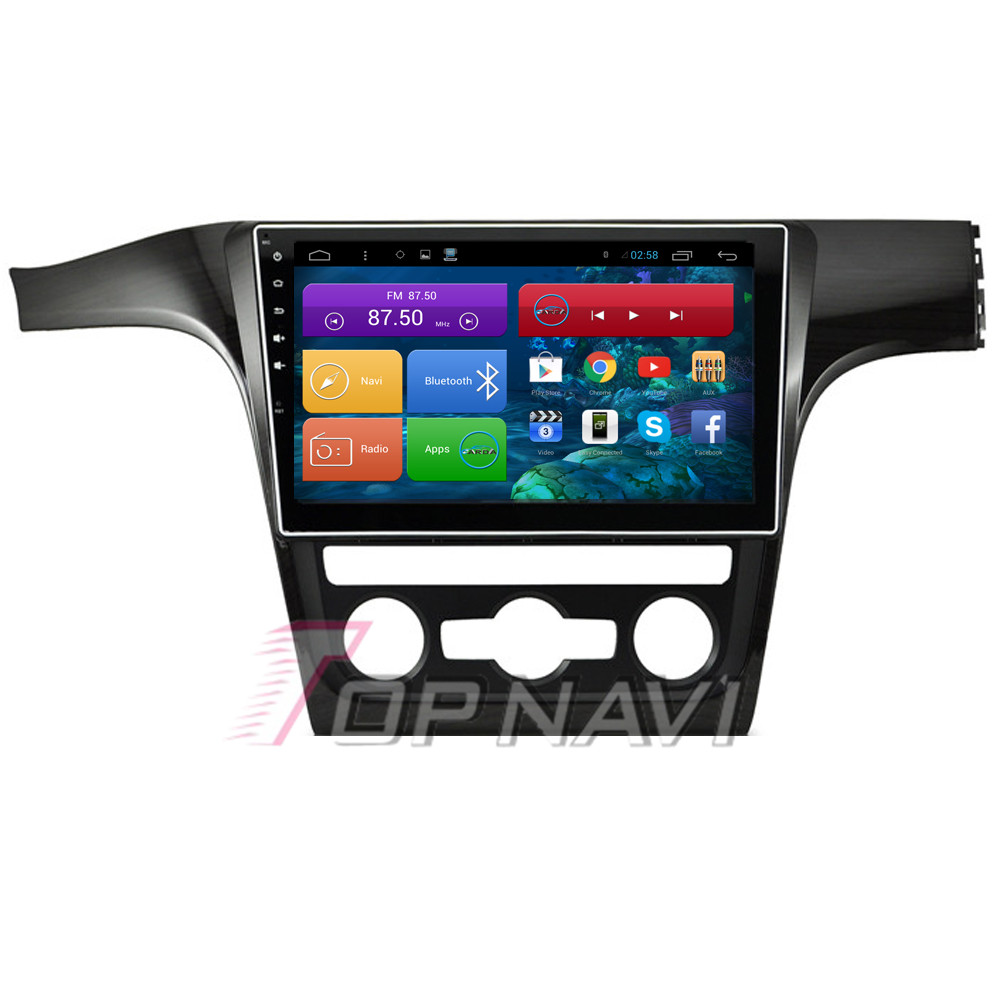 """Top 10.2"""" Quad Core Android 4.4 Car GPS for VW Passat 2015 With Free Map Stereo Radio Audio Wifi BT 16GB Flash Free Shipping"""