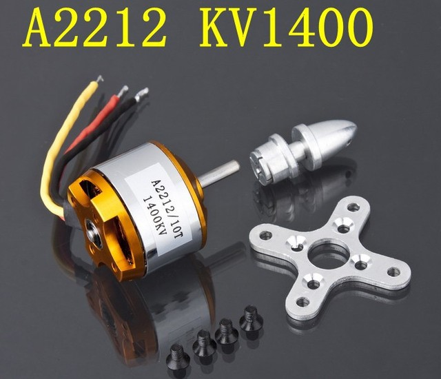 1pcs A2212 Brushless Motor 930KV 1000KV 1400KV 2200KV 2700KV For RC Aircraft Plane Multi-copter Brushless Outrunner Motor