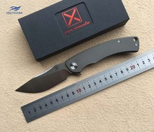 NIGHTHAWK X-065 folding knifeBall bearing D2 blade Titanium handle camping hunting Outdoor survive pocket knives EDC tool