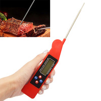 Folding Digital LCD Backlight Voice Prompt Instant Read Food Thermometer Kitchen Cooking Thermometer Grill BBQ Meat