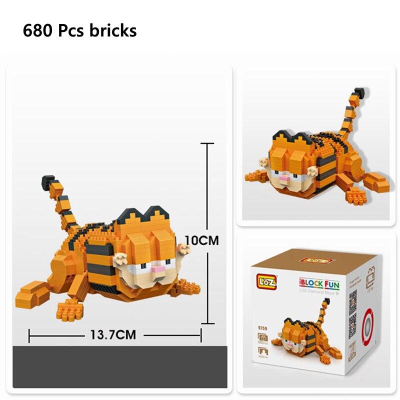 9759 LOZ MINI Blocks Assembly DIY Kids Girls Building Toys Puzzle 680 pcs Blocks Baukästen & Konstruktion