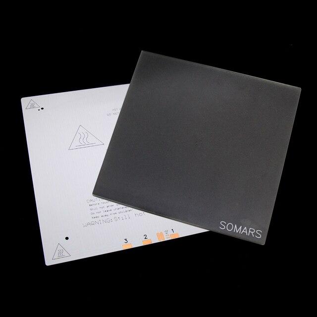 3D lit chauffant en cristal de silicium de carbone de verre d'impression 265x265mm + verre de lit chaud 265x265mm + plaque d'impression enduite spéciale