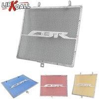 LJBKOALL Stainless Steel Radiator Grille Protective Cover Grill Guard Protector For Honda CBR600RR CBR 600 RR 2007 2015 2014