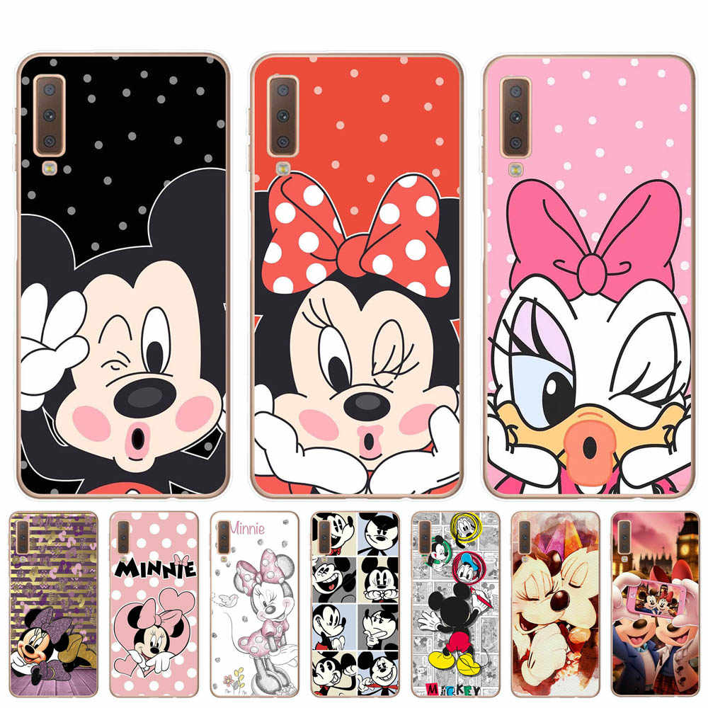 Soft TPU for Samsung Galaxy A6 A8 Plus A7 A9 2018 Cover For Samsung A10 A20 A30 A40 A50 A70 2019 Phone Case Mickey Minnie Cover