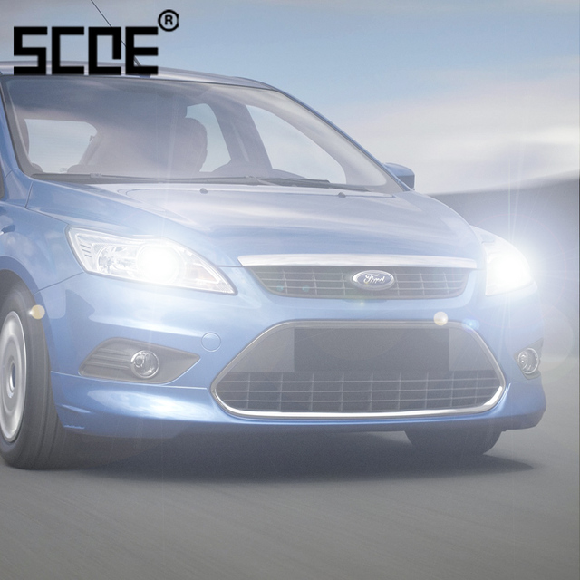 For Ford B Max C Fiesta Focus Galaxy Kuga Mondeo Scoe 2pcs Auto Low Beam Super Halogen Bulb Headlight Car Styling Warm White