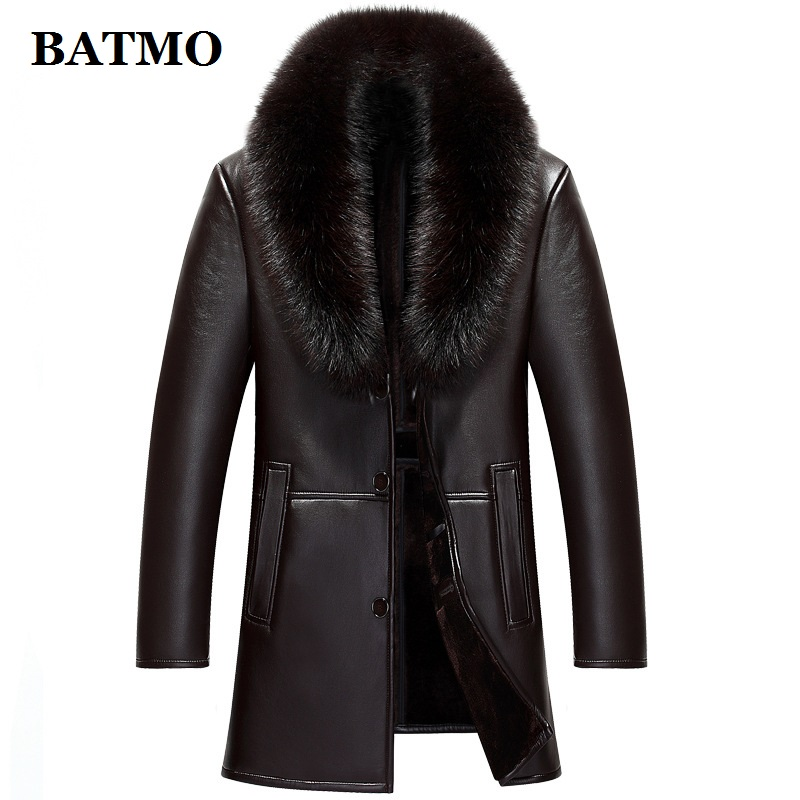 HTB1dvKWacnrK1RjSspkq6yuvXXaK BATMO 2019 new arrival winter high quality real leather fox fur collars trench coat men ,men's winter Wool Liner parkas AL18