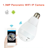 10pcs Lot 1 3MP 360 Degree Wifi Fisheye Camera V380 App Software Wireless Panoramic Network Light