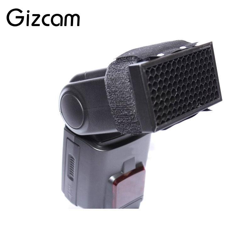 Gizcam Miel Peigne Grille Soft Box Flash Diffuseur Softbox Videur pour Canon 580EX 430EX 380EX SB600 pour Nikon Yongnuo Flash