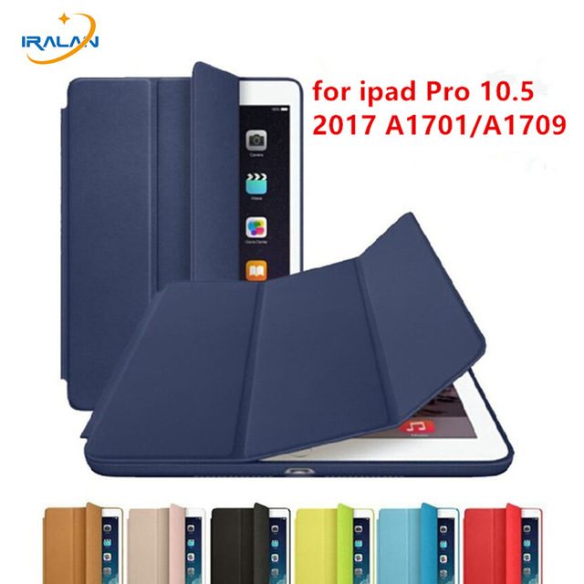 2018 hot official 1:1 Ultra Slim Smart Cover For iPad Pro 10.5 2017 new PU Leather flip Tablet Case Auto Wake/Sleep+stylus+film nice soft silicone back magnetic smart pu leather case for apple 2017 ipad air 1 cover new slim thin flip tpu protective case