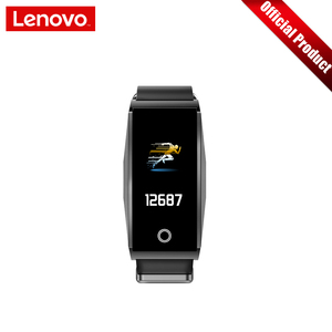 """Image 2 - Lenovo Smart Wristband Heart Rate Blood Pressure Sports Watch 0.96"""" TFT Touch Screen Metal Body Support Multiple Languages"""