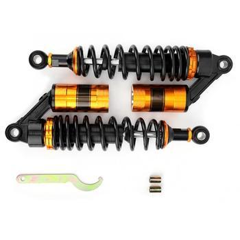 Амортизаторы для мотоцикла с металлической подвеской, амортизаторы, черные, желтые, задние амортизаторы из нержавеющей стали, новые >> Autowner Store
