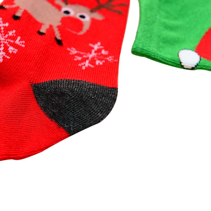 Christmas Men Women Couple Winter Cotton Socks Santa Snowman Snowflake Patten Printed Socks Filler Socks