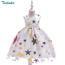 Flower Girl Dress 2018 Girls Kids For autumn sleeveless Embroidery Star Princess baby wedding costume Party dress