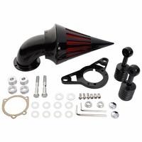 Черный алюминиевый шип очиститель воздуха фильтр для Harley Cross Bones Softail 08 09