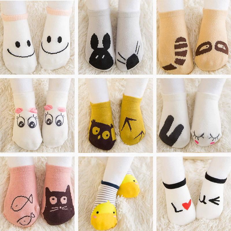 Newborn baby sock Cotton floor socks Boys Girls Cute Cartoon animal Baby Toddler Socks infant Anti-slip socks hockey sock