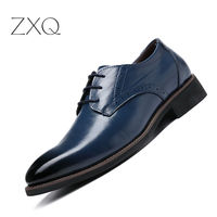 Hot Sale Men Oxford Shoes 2018 Business Formal Men Dress Shoes Lace Up Patent Leather Big Size Casual Men Footwear