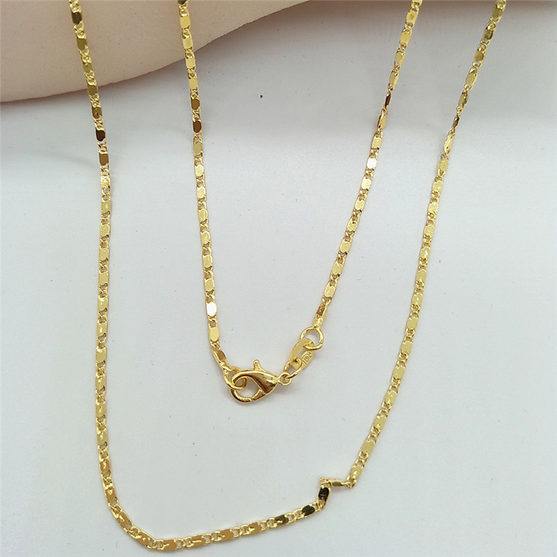1PC Golden thin chain necklace Personality Fashion Joker Lady Accessories Multiple sizes available For Women Jewelry Dropshiping