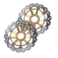 Arashi Front Brake Disc Rotors Set For Honda CBR900RR 1998 1999 CBR900 Gold