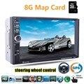 Автомобильный радиоприемник 2 din 7 Дюймов 8 Г карты доступны Bluetooth видео Стерео MP4 Mp5-плеер USB TF FM поддержка камеры заднего вида GPS