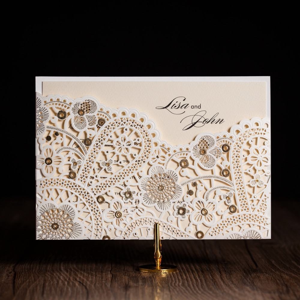 cw5181 white royal wedding invitation card greeting card