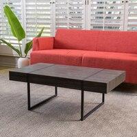 Oladrin Black Sonoma Oack Laminated Hardwood Coffee Table