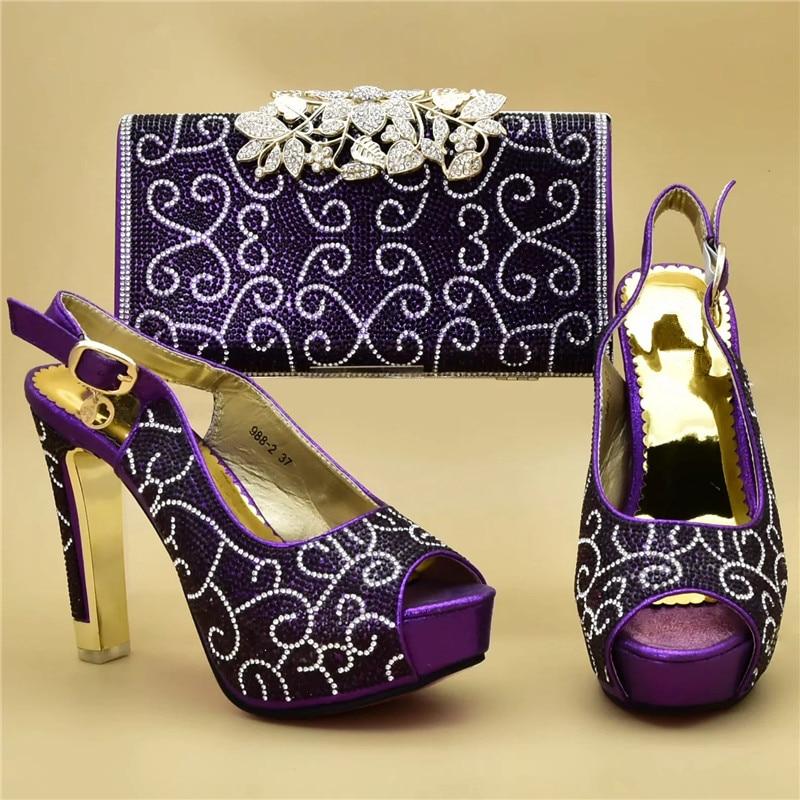 Juego Bolsa De Mujer Fiesta púrpura Las Tacón azul Zapatos 2019 Diseño Mujeres oro Tinto Alto Y Italiano Boda Negro vino Bolso Último África 8Otaq8